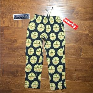 Guinness beer pants / pajama bottoms all over logo
